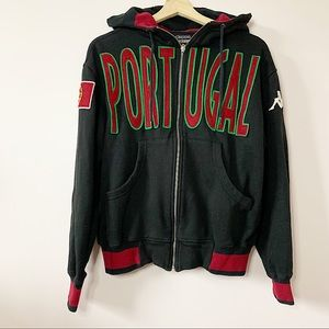 KAPPA   Portugal embroidered zip up sweater S